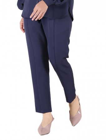 [Ready Stock] Lauren Pants-Navy Blue
