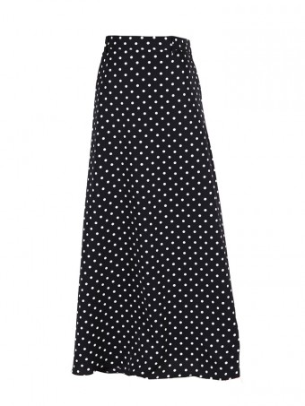 [Ready Stock] Jane Dotted Skirt - Marble Black