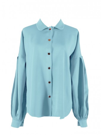 [Ready Stock] Lauren Top- Tiffany Blue
