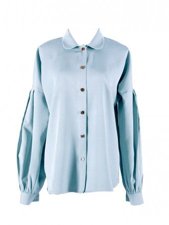 [Ready Stock] Lauren Top- Baby Blue