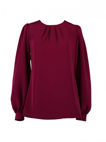 [Ready Stock] Jessica Blouse 5.0-Mulberry Maroon