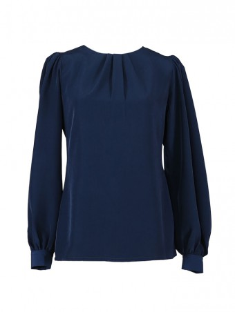 [Ready Stock] Jessica Blouse 5.0-Midnight Blue
