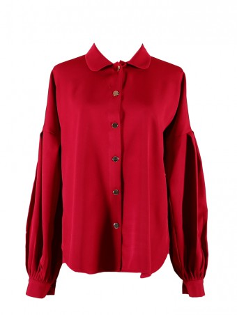 [Ready Stock] Lauren Top- Red Maroon