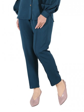 [Ready Stock] Lauren Pants-Emerald Green