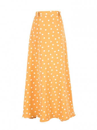 [Ready Stock] Jane Dotted Skirt - Honey Yellow