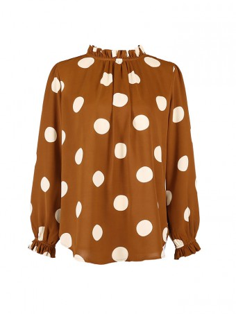 [Ready Stock] Camelia Blouse 3.0-Brown