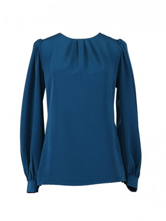 [Ready Stock] Jessica Blouse 5.0-Teal Blue