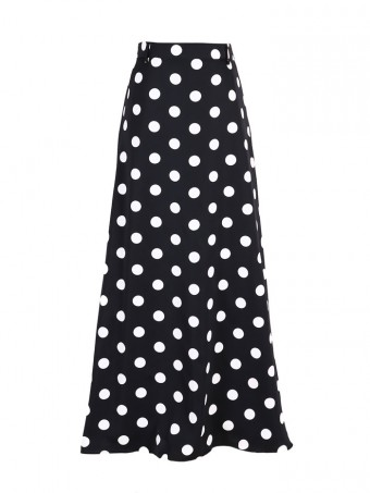 [Ready Stock] Jane Dotted Skirt - Bubble Black