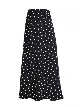 [Ready Stock] Jane Dotted Skirt - Coffee Black