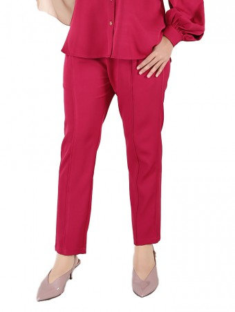 [Ready Stock] Lauren Pants-Fushia Pink