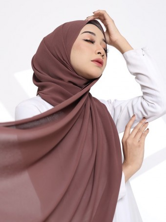 Hana Plain Shawl-Milk Chocolate