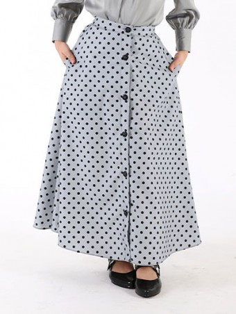 Lola Button Skirt(K)1.0-Summer Grey