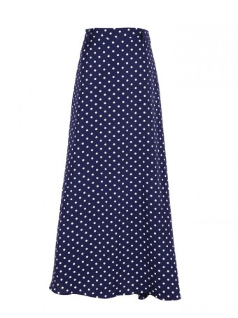 [Ready Stock] Jane Dotted Skirt - Navy Blue