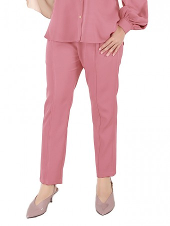 [Ready Stock] Lauren Pants - Rouge Pink