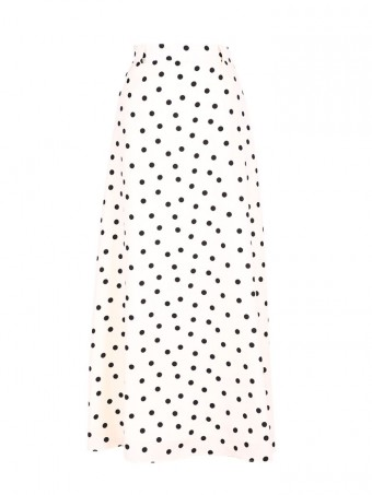 [Ready Stock] Jane Dotted Skirt - Milky Cream