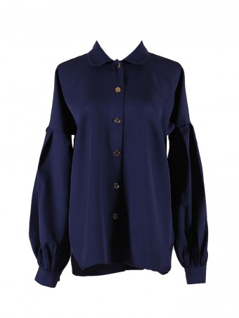 [Ready Stock] Lauren Top-Navy Blue