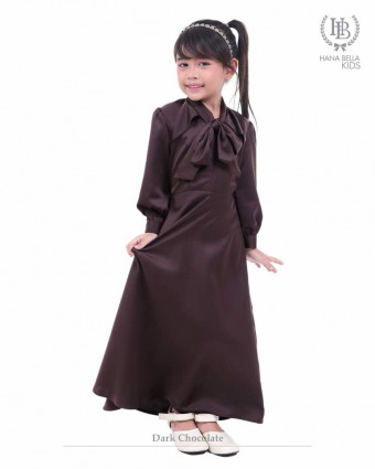 Emily Kids Dress-Dark Chocolate