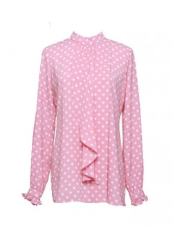 Thea Dotted Blouse-Sugared Pink