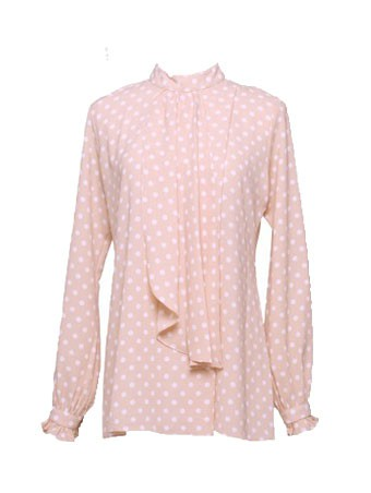 Thea Dotted Blouse-November Nude